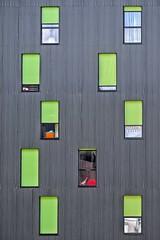 Indiscrétions (Isa-belle33) Tags: architecture urban urbain city ville wall mur windows fenêtres fujifilm fujixt1 outdoor colors couleurs vert green bordeaux