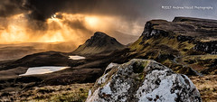 South from The Quiraing (anicoll41) Tags: skye highland scotland gb sunlight quiraing hills rock