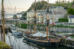 Tall Ships At Charlestown - St Austell, Cornwall. (john lunt) Tags: tall ship ships charlestown cornish harbour coast poldark filming film location cornwall seaside sea water buildings fishing boats coastal coastline dusk sundown st austell england uk britain holiday vacation destination tourist spot tourism iconic dramatic calm horizontal colour color landscape john lunt johnlunt sony alpha a7rii zeiss 55mm f18 za prime lens sail sailing boat wind maritime historic