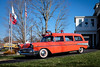 Going Out in Style. (Mr. Pick) Tags: chevy belair 1957 57 clarksville tn tennessee montgomery county ambulance hearse red national funeral home trifive tri five