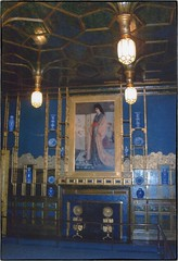 The Peacock Room - From the Freer Mansion -  Detroit Michigan -  Washington DC -  Freer Gallery (Onasill ~ Bill Badzo - 60 Million Views - Thank Yo) Tags: a painting by james mcneil whistle called la princesse du pays de porcelaine or the princess from land porecelain occupied space above fire place whistler was hired make minor alterations adore wainscoting border cornice detroit mi michigan washington dc freer mansion house art gallery museum oneil painter artist peacock room historic nrhp architecture onasill smithsonian photo