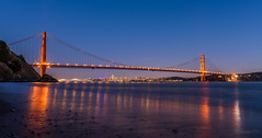 Two beauties (pn.praveen) Tags: goldengatebridge kirbycove sanfrancisco baybridge california bridge bayarea cityscape longexposure