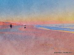 Aquarelle océane (JEAN PAUL TALIMI) Tags: ocean aquitaine landes jeanpaultalimi talimi lignes coucherdesoleil lumieres mer eau sable aquarelle solitude soleil