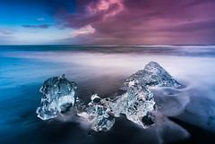 Diamond Beach / Iceland (Sebastian Warneke) Tags: iceland fuji fujifilm island ice beach black jökulsarlon jökullsarlon xt2 samyang 12mm