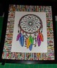 dreamcatcherA2 (Mischandler) Tags: mischa sticks rolled paper magazines mats tubes rolls projects photos display glue colorful pictures frames crafts crafting custom original dreamcatcher tribal web picture frame rhinestones
