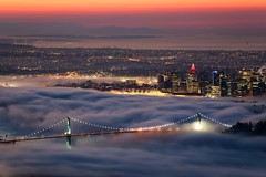 Van City Fog (Mike_Wigg) Tags: lights britishcolumbia fog vancouver