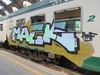 1291 (en-ri) Tags: maek pmf verde acqua nero lilla train milano graffiti writing
