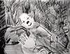 Fear Banishing Clown (giveawayboy) Tags: dream pencil crayon drawing sketch eraser water brush art fch tampa artist giveawayboy billrogers fear banishing clown
