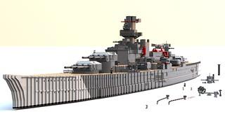 Battleship Scharnhorst WIP 1