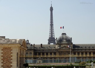 The Eiffel Tower behind the Ecole Militaire
