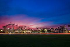 Belmont Park at Sunset (jerschneid) Tags: bellmontpark california clouds missionbeach rollercoaster sandiego sky sunset belmont park