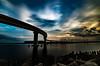 臨港道路霞4号幹線 (aqugacosmo) Tags: pentax k5iis k5ⅱs k5 magichour bridge sigma sigmalens sigma1020mm japan ペンタックス シグマ 臨港道路霞4号幹線 四日市 霞