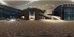 Conrad Osaka in equirectangular (コンラッド大阪) (christinayan01) Tags: osaka japan architecture building architectrure perspective hotel conrad interior indoor lounge space room observatory equirectangular