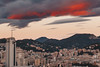 Partially lit (FButzi) Tags: genova genoa liguria italia italy clouds sunset sky mura santa chiara view from office orange