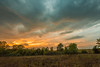 Kansas, U.S.A. Backyard Sunset [2] (thefisch1) Tags: sunse sky cloud color colorful horizon pasture grass blue stem