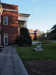 PB100740 (photos-by-sherm) Tags: cultural arts building uncw university north carolina wilmington nc fall november architecture sculptures grounds grasses trees plants bicycles