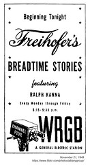 1949 breadtime stories debut (albany group archive) Tags: albany ny history freihofer bakery 1949 breadtime stories wrgb tv debut ralph kanna freddy 1940s old historic historical photo photograph picture vintage