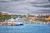 (826/17) Puerto de la isla de Gozo (Malta) (Pablo Arias) Tags: pabloarias photoshop photomatix capturenxd arquitectura bote barcos agua mar mediterráneo ciudad bahía montaña edificio gozo ghajnsielem malta