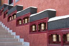 Prayer wheels (bag_lady) Tags: prayerwheels ladakh india buddhist thikseymonastery buddhism leh monastery gompa gelugsect tibetanbuddhism