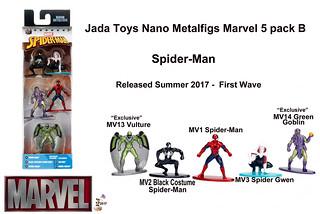 Jada Toys Nano Metalfigs Marvel/Spiderman 5 pack B -  1st Wave