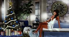 Blue Monday (Alexa Maravilla/Spunknbrains) Tags: loveydovey treschic nerido salvadori n sources swallow zencreations fancydecor dustbunny zerkalo secondlife decor furniture blue bedroom christmas people indoors