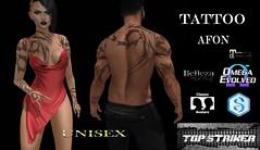 TOP STRIKER - Afon (unisex) (Top Striker) Tags: topstriker afon tattoo unisex omega signature sl secondlife biker sexy