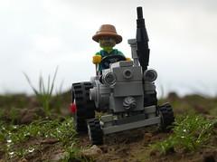 Lanz mit Pendelachse (captain_joe) Tags: toy spielzeug 365toyproject lego minifigure minifig moc car auto trecker tractor lanz bulldog lanzbulldog series15 farmer