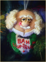 Bah Humbug (jerrywb2010) Tags: home christmas tree ornament photoshopfun topazimpression digitalfun macro