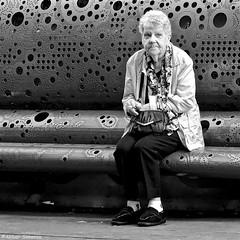 DSCN3894 (Akbar Simonse) Tags: holland netherlands nederland denhaag thehague agga haag lahaye sgravenhage people woman candid bench bank streetphotography straatfotografie streetshot straatfoto zwartwit bw blancoynegro bn monochrome vierkant square akbarsimonse smoking roken cigaret sigaret
