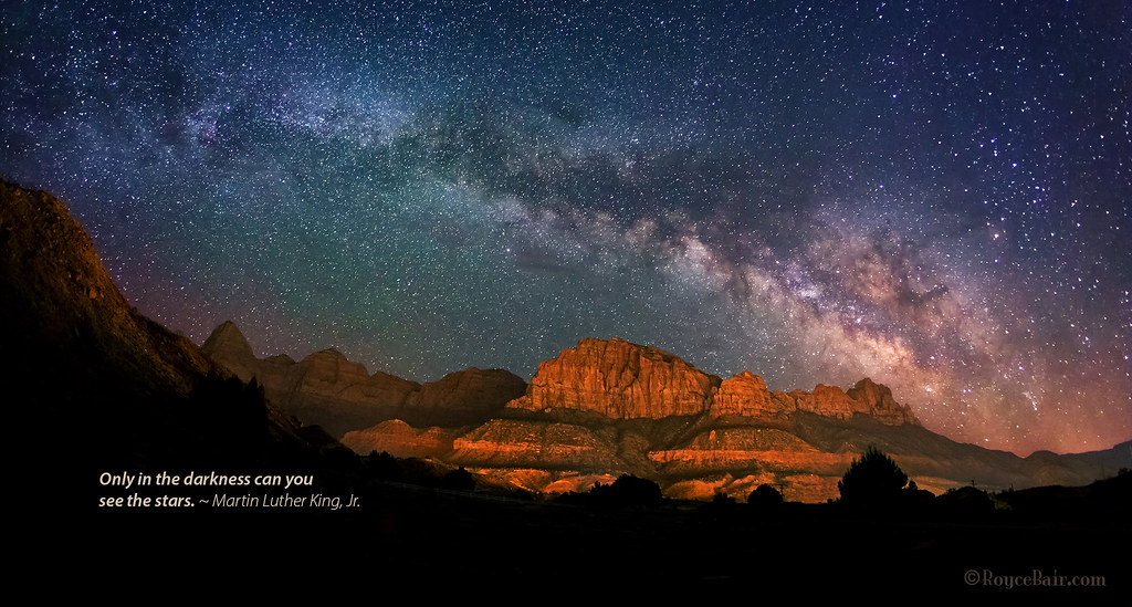 Milky Way over Zions
