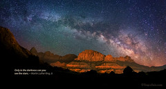 "Milky Way over Zions (IronRodArt - Royce Bair (""Star Shooter"")) Tags: thewatchman watchman mountains milkyway stars starrynightsky zions zionnationalpark heavens constellations mountain monument twilight dusk astro astronomy astrophotography night sky evening shiny cosmic cosmos dark deep space distant long exposure time galaxy heaven infinity universe nature planet shine sparkle glow twinkle starlight starrynight exploration nightscape nightscapes"