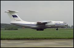 UN-76374 - Berlin Schönefeld (SXF) 16.05.1996 (Jakob_DK) Tags: il76 il76td ilyushin ilyushinil76 il76candid ilyushin76 ilyushin76td ilyushinil76td cargo eddb sxf schönefeld berlinschönefeldairport flughafenberlinschönefeld kza kazakstanairlines kazakhstanairlines 1996