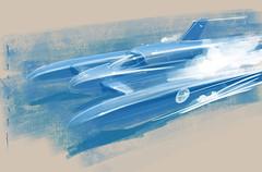 BLuebird k7 s (Stefan Marjoram) Tags: sketch drawing ipad pro procreate apple pencil car vintage racing plein air