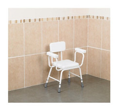 Shower Stool Perching Extra Low With Padded Vinyl Seat (Cadherine) Tags: shower stool perching extra padded vinyl seat kitchen bathroom foam paddin occupational therapy disabled elderly seniors living aids mobility disabilities handicapped united kingdom toilets