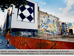 The Perimeter of the World (kirstiecat) Tags: harikunzru whitetears novel literature book quote stranger streetart graffiti berlin germany read