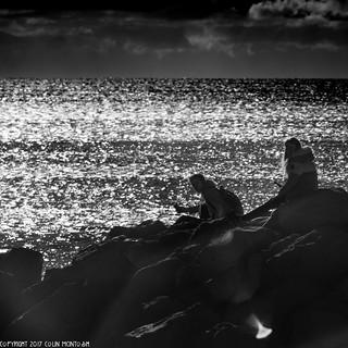 D7K_7921: Highcliffe Beach, Dorset in Infrared