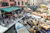 Faranume (Alex Cruceru) Tags: venice venezia italia italy canal water crowded crowd boxes ships shipment people august sunny nikond3100 d3100 nikon life architecture urban high angle view nautical vessel outdoors colors highangle