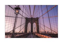 Brooklyn Bridge At 7AM (Nico Geerlings) Tags: ngimages nicogeerlings nicogeerlingsphotography manhattan brooklyn eastriver pedestrianwalkway sunrise brooklynbridge newyorkcity nyc ny usa lowermanhattan