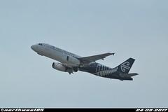 ZK-OJF (northwest85) Tags: air new zealand zkojf airbus a320232 take off runway 34l sydney kingsford smith airport nz anz syd yssy