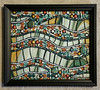 finished piece teal-orange (toadranchlady) Tags: mosaicart mixedmediamosaic temperedglass stainedglass foundobjects