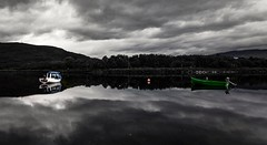 Green boat (Phil-Gregory) Tags: nikon d7200 lochlinnhe mono boat water scotland fortwilliam national nature nationalpark naturalphotography naturalworld naturephotography countryside