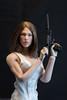 Killer Dress (edwicks_toybox) Tags: 16scale acplay tbleague brunette dress femaleactionfigure girlswithguns highheels phicen pistol poptoys verycool