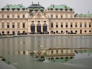 Belvedere Palace on a frozen lake