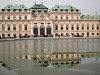 Belvedere Palace on a frozen lake (gabrielfiuza) Tags: austria palace art lake water mirror winter europe travel people city cityscape landmarks museum windows frozen