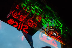 (Jeremy Whiting) Tags: neon sign urban city detroit michigan royal oak low light night digital color canon green red blue orange pizza slice window reflection sky clouds jeremy whiting great lakes rust belt 313 oakland county 248 pure