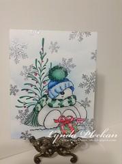 Sweet Thankful Snowman (joyfulstamper) Tags: pennyblack snow snowman christmas thankyou