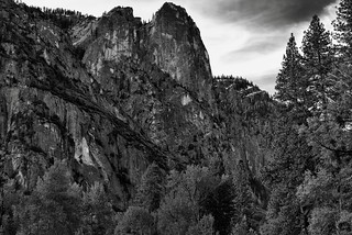Textures, Patterns and Striations of Sentinel Rock (Black & White)