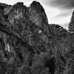Textures, Patterns and Striations of Sentinel Rock (Black & White) thumbnail