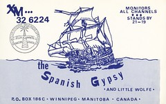 The Spanish Gypsy - Winnipeg, Manitoba (73sand88s by Cardboard America) Tags: vintage qsl qslcard cbradio cb manitoba citymapper ship