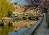 Autumn in Lier...  medieval city on rivers Nethe in Flanders. (capvera) Tags: lier flandres nethe river bridges arcades reflections lierre